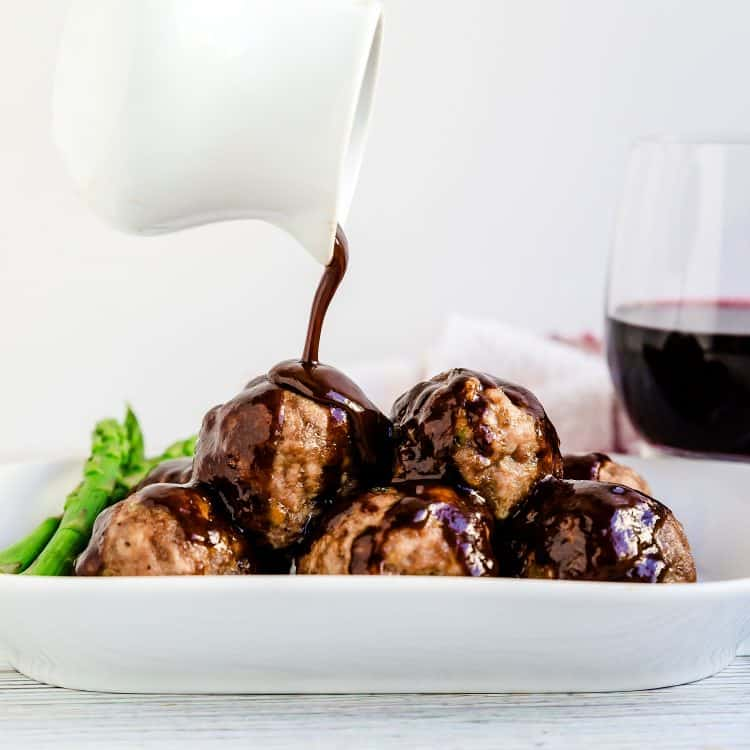 Demi-Glace Meatballs LowCarbingAsian Cover
