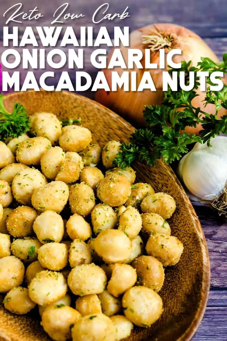 Hawaiian Onion Garlic Macadamia Nuts Pin 1