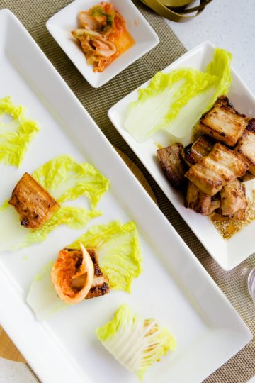 keto Kimchi Wrapped Miso Pork Belly cover