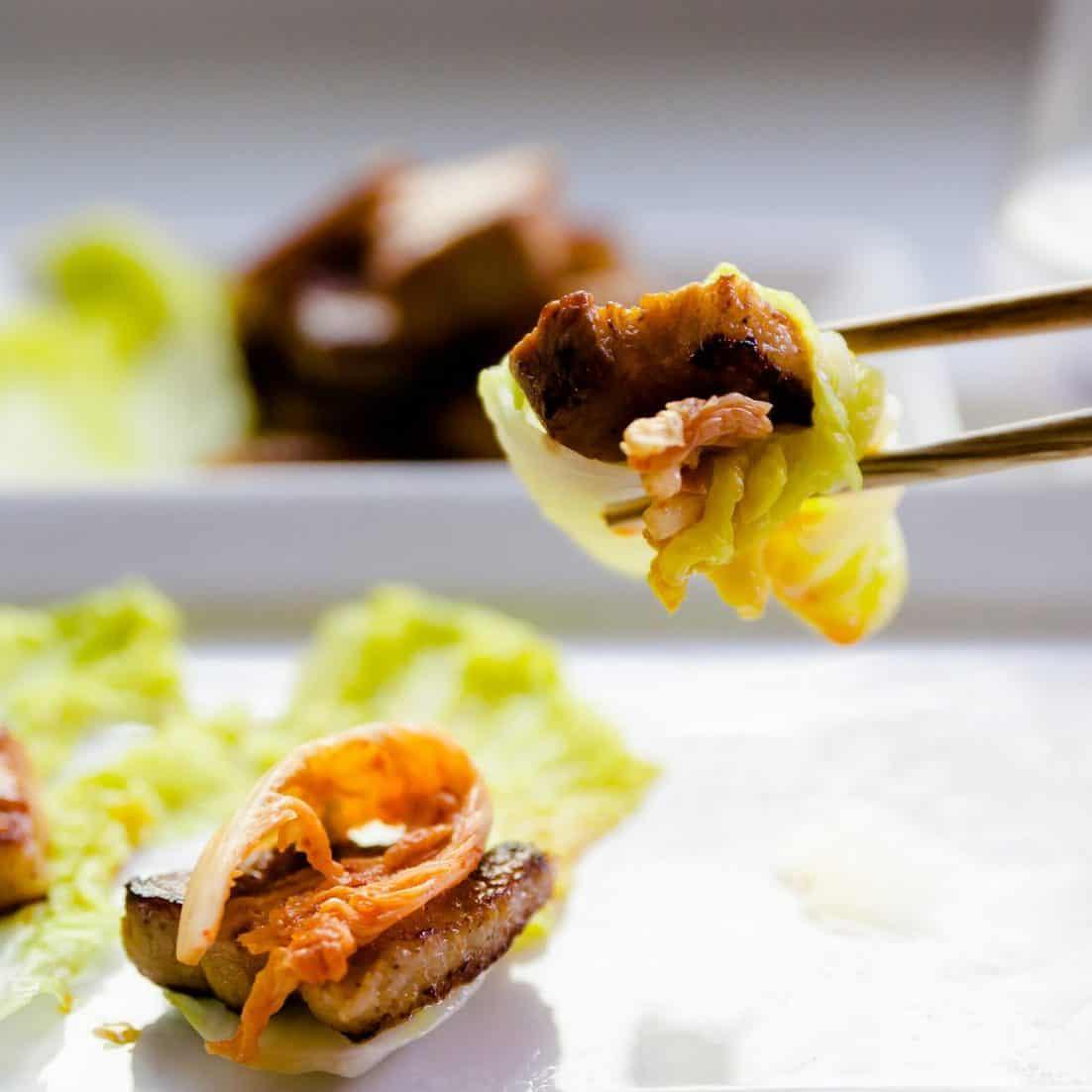 keto Kimchi Wrapped Miso Pork Belly pic