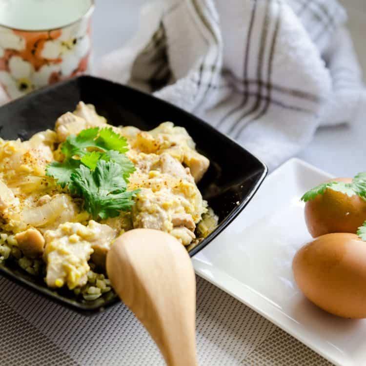 keto japanese Chicken Egg Bowl - Oyakodon cover
