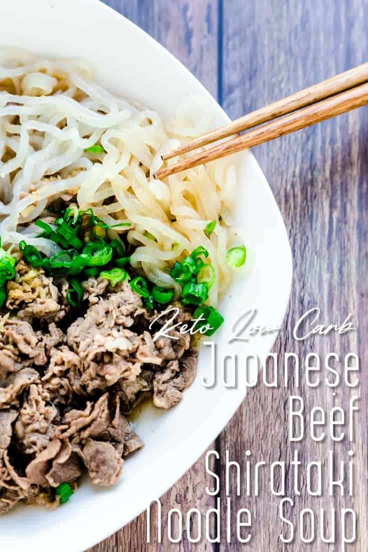 Japanese Beef Shirataki Noodle Soup