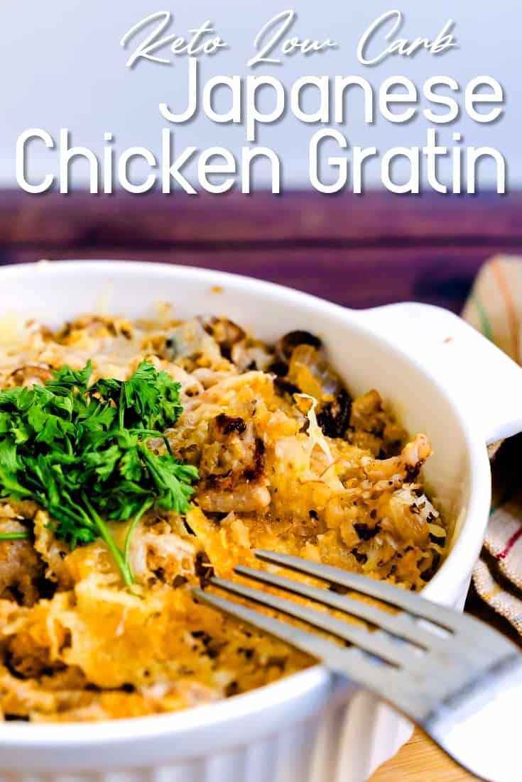 Japanese Chicken Gratin LowCarbingAsian Pin 1