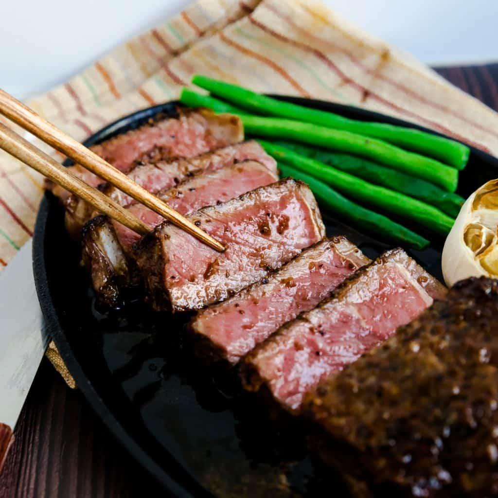 Japanese Style Garlic Steak LowCarbingAsian Pic 1