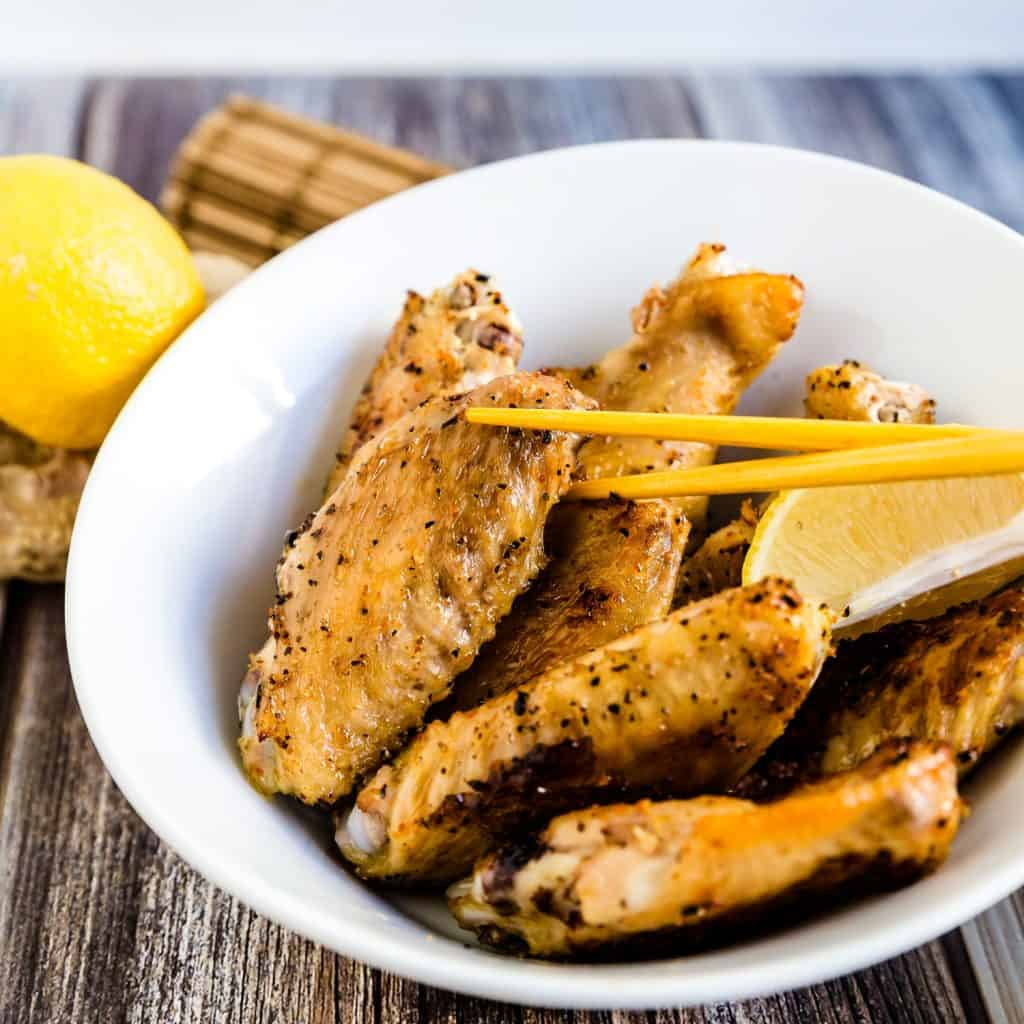 Japanese Style Salted Chicken Wings LowCarbingAsian Cover