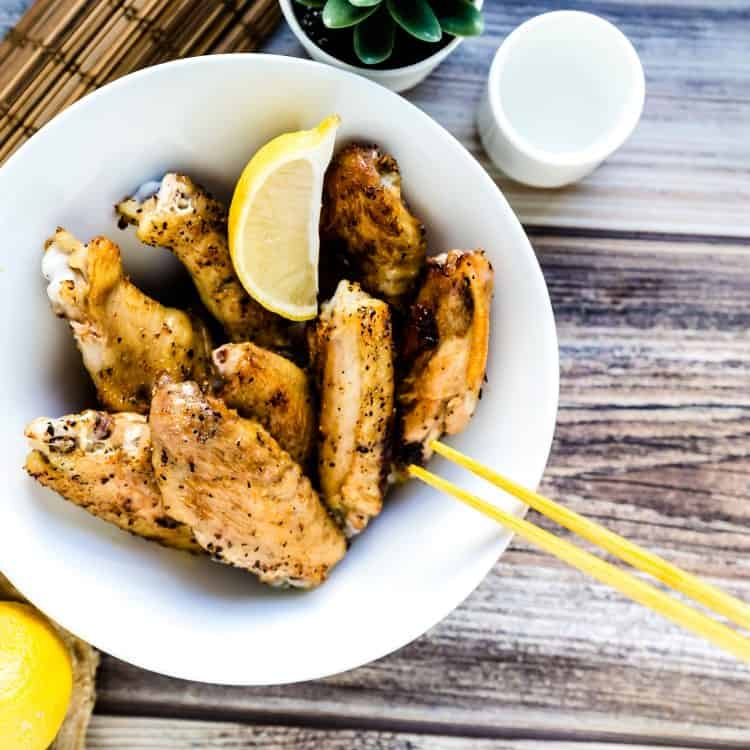 Japanese Style Salted Chicken Wings LowCarbingAsian Pic 1