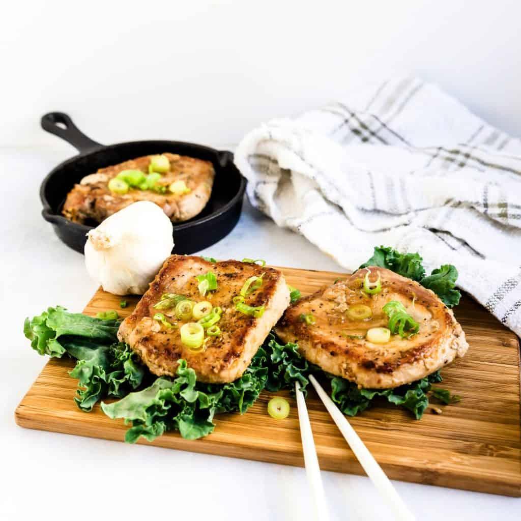 Keto Low Carb Asian Garlic Pork Chops LowCarbingAsian Pic 2