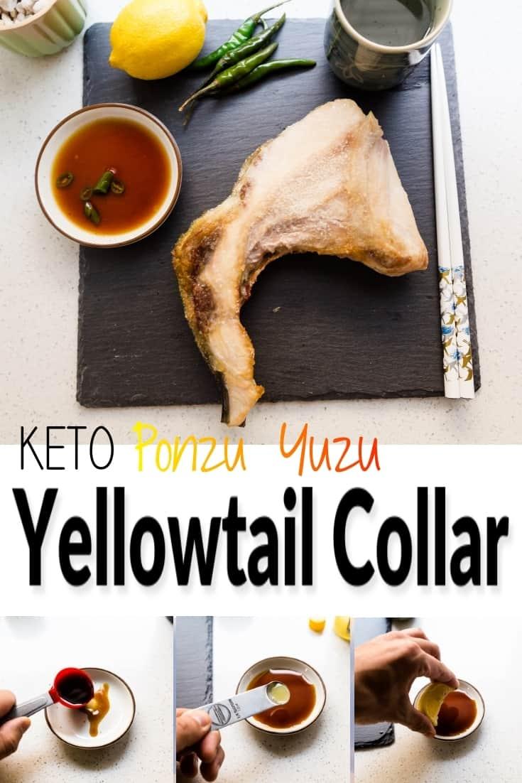 keto Ponzu Yuzu Yellowtail Collar pin 2