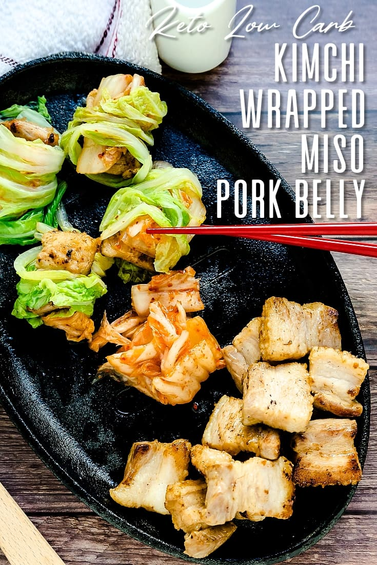 Kimchi Wrapped Miso Pork Belly LowCarbingAsian Pin 2