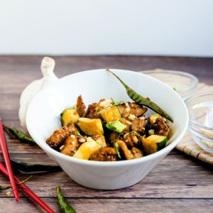Kung Pao Chicken Stir Fry LowCarbingAsian Cover