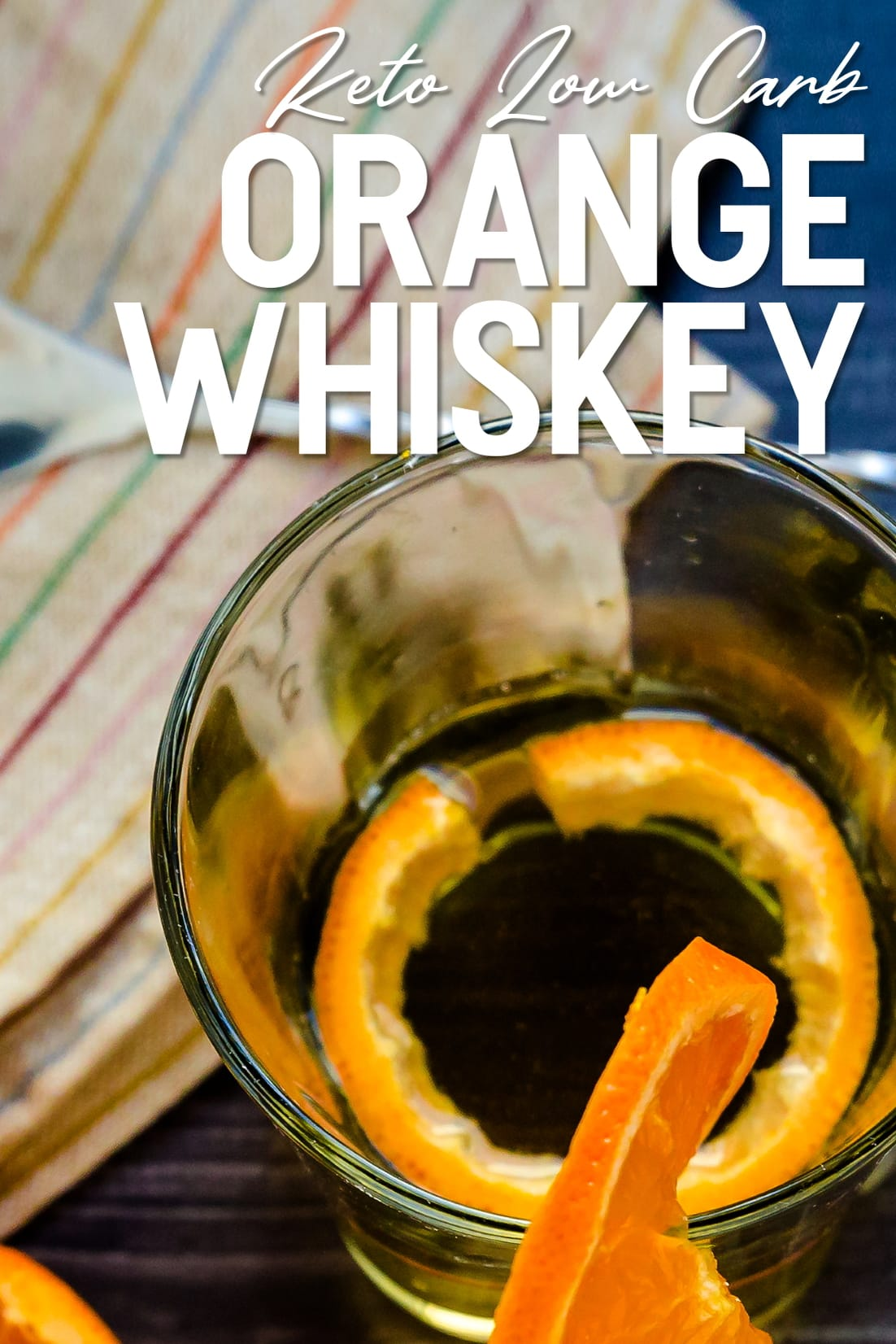 Orange Whiskey Soda with Orange