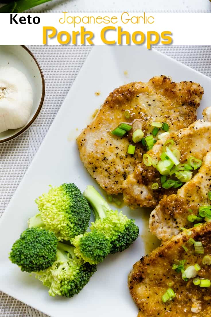 keto Asian Garlic Pork Chops pin 1