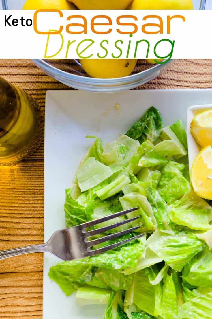 keto Caesar Salad Dressing pin 1