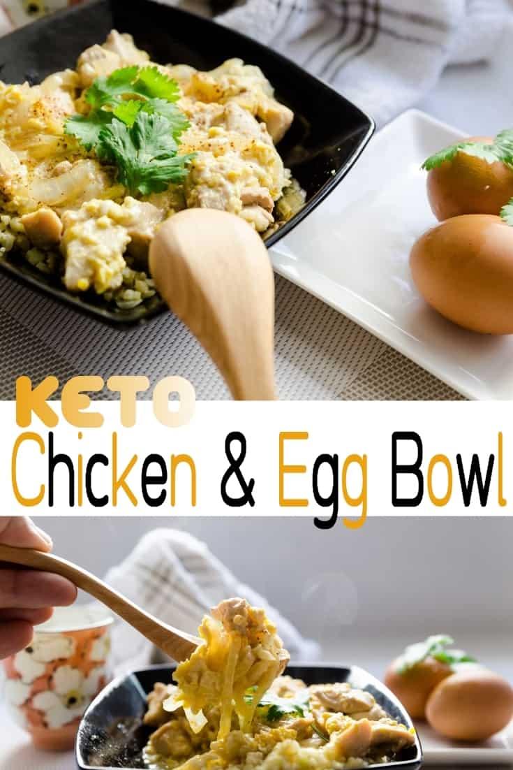 keto japanese Chicken Egg Bowl - Oyakodon pic 2
