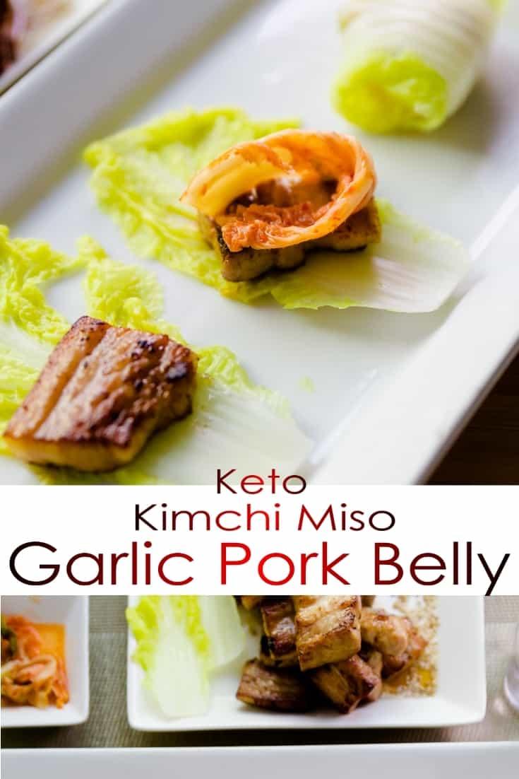 keto Kimchi Wrapped Miso Pork Belly pin 2