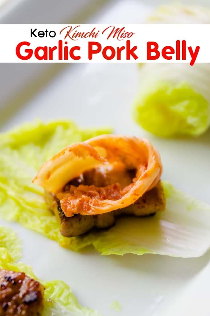 keto Kimchi Wrapped Miso Pork Belly pin 1