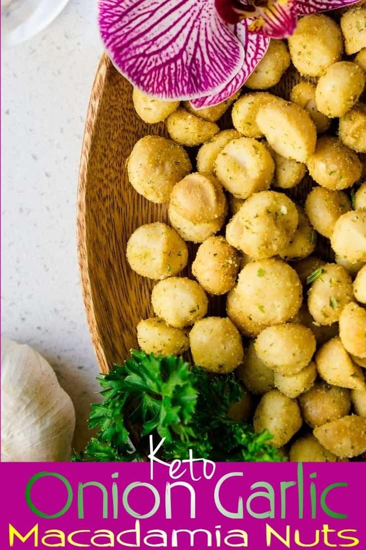 keto Onion Garlic Macadamia Nuts pin 2
