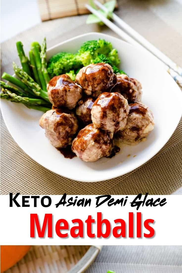 keto Asian Demi-Glace Meatballs pin 2
