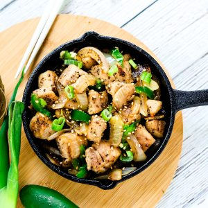 Sesame Chicken Stir Fry LowCarbingAsian Cover