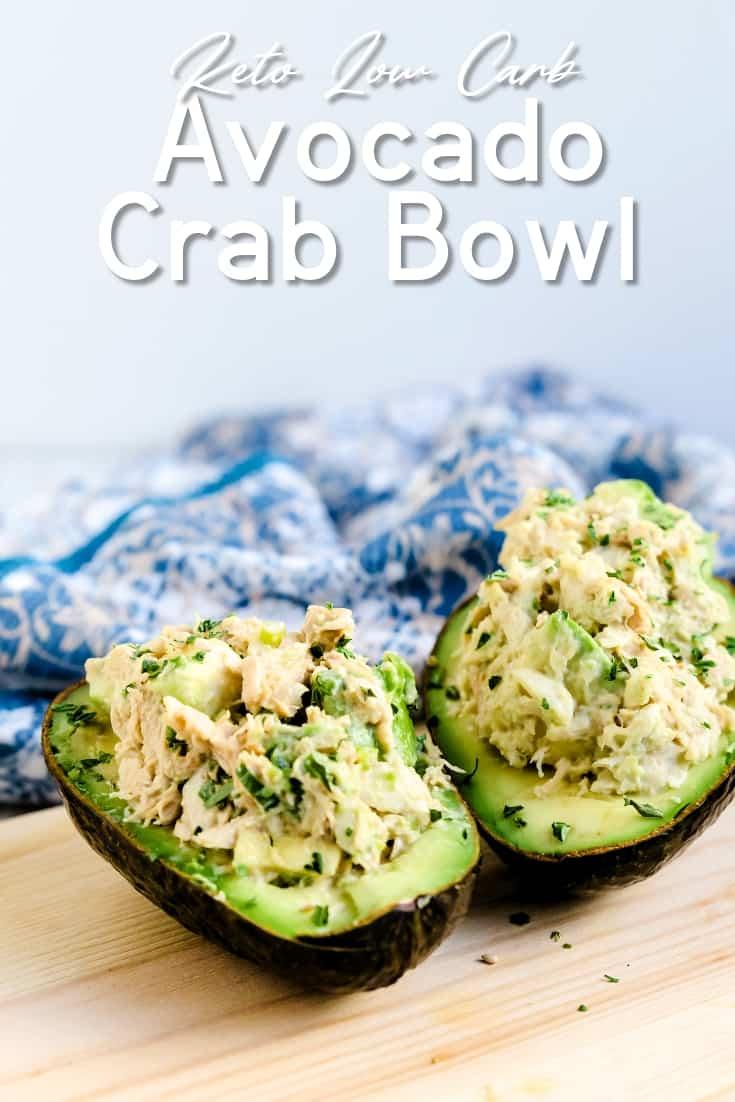 Avocado Crab Bowl LowCarbingAsian Pin 2