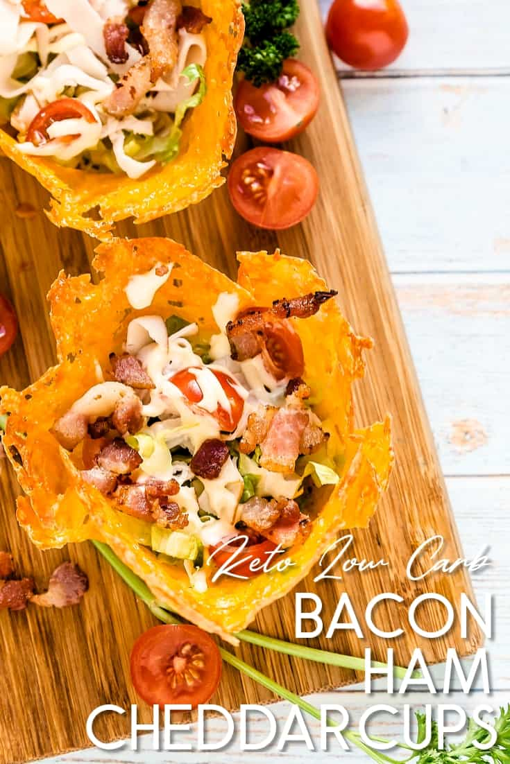 Bacon & Ham Cheddar Cups LowCarbingAsian Pin 2