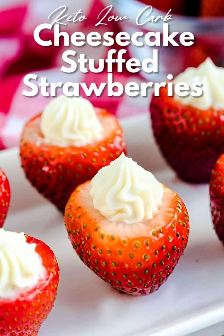 Cheesecake Stuffed Strawberries LowCarbingAsian Pin 1