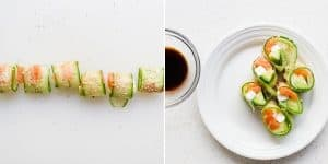 Cucumber Wrapped Cream Cheese Philly Roll Recipe (26)