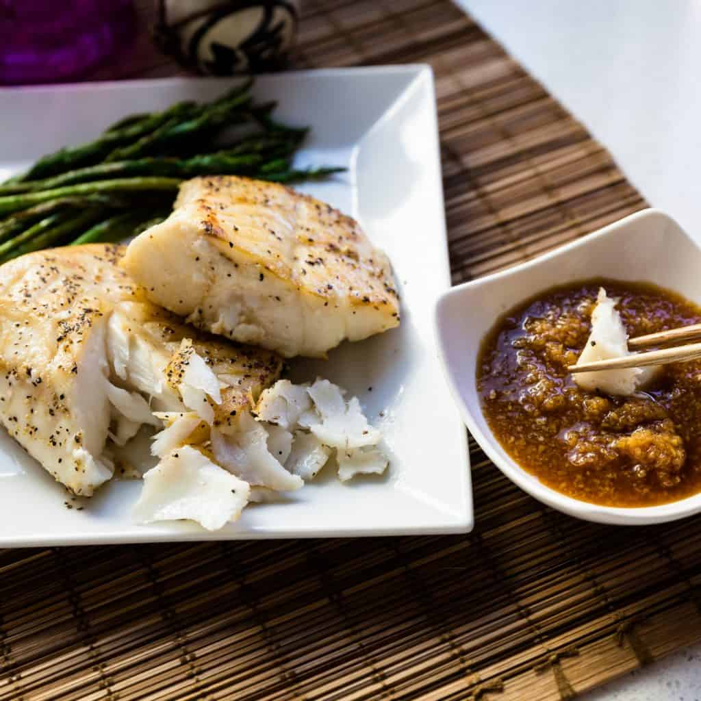 keto Seared Pacific Cod with Benihana Ginger Sauce pic