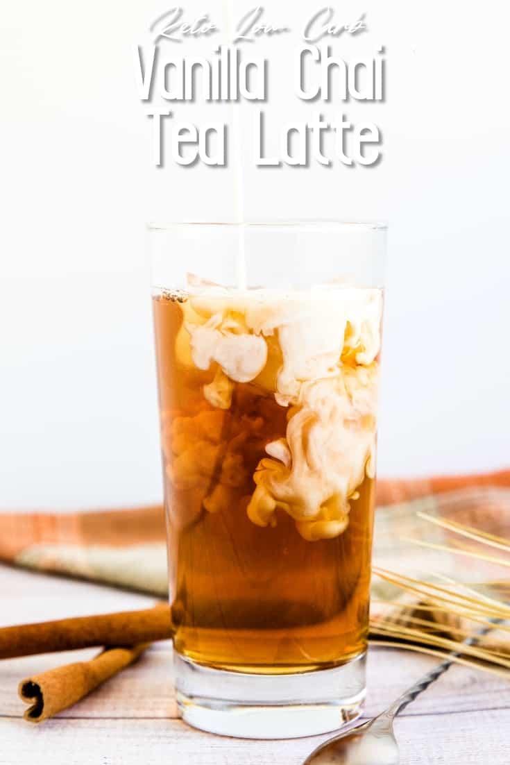 Iced Vanilla Chai Tea Latte LowCarbingAsian Pin 2