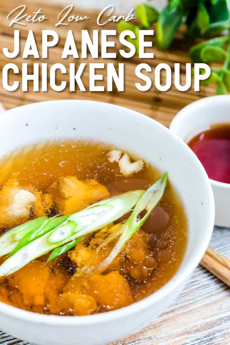 Japanese Chicken Soup LowCarbingAsian Pin 1