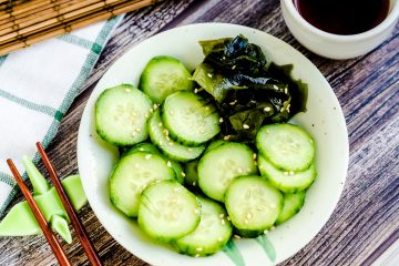 Japanese Cucumber Salad LowCarbingAsian Cover