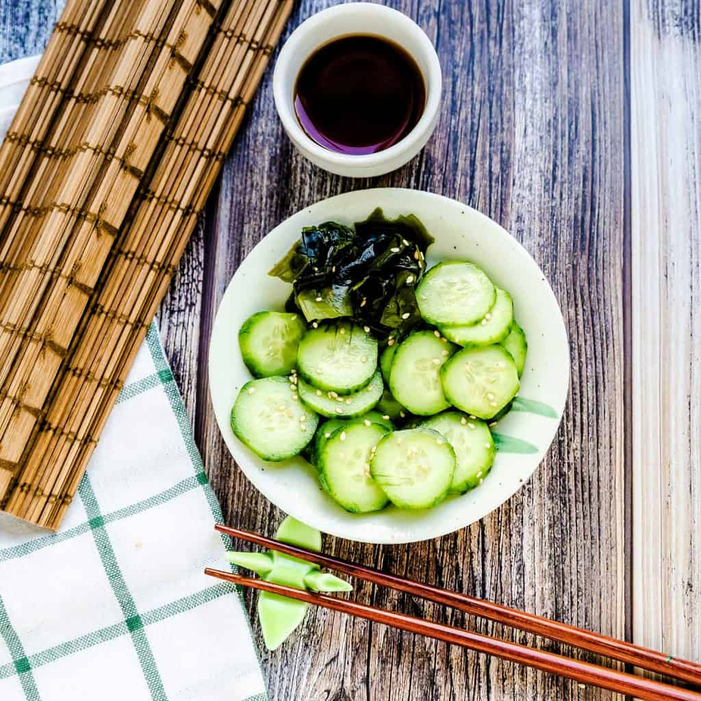 Japanese Cucumber Salad LowCarbingAsian Pic 1