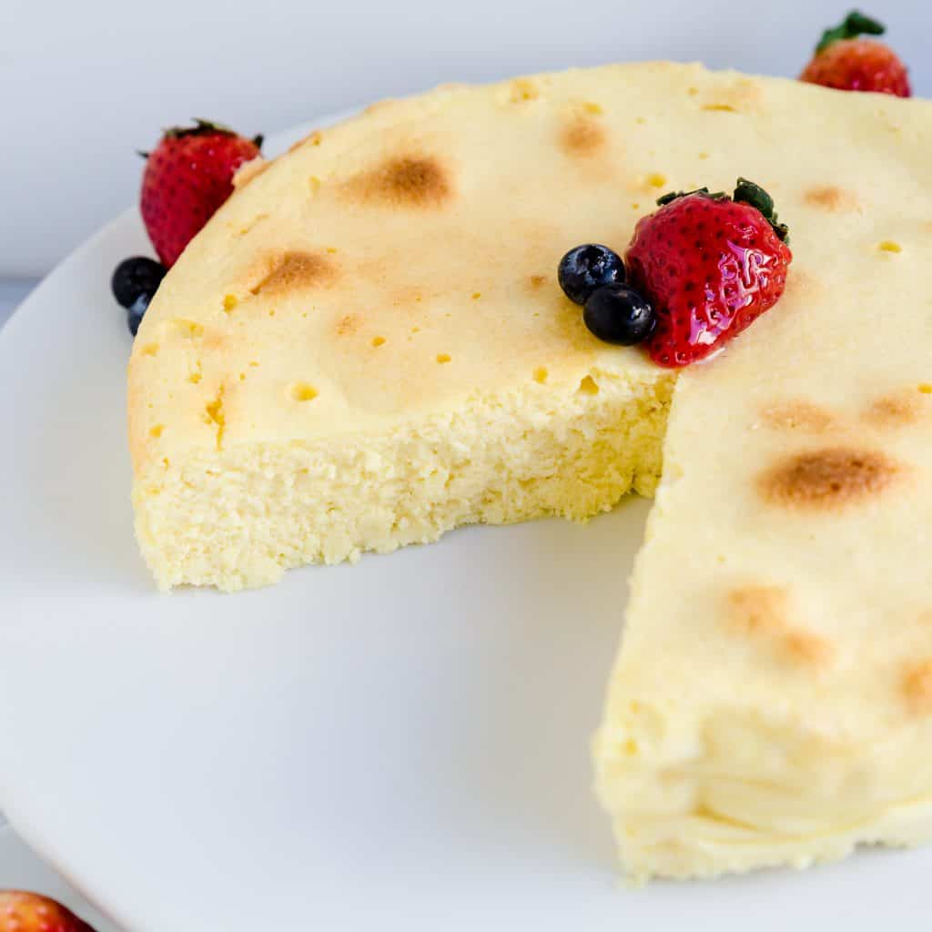 Japanese Fluffy Cheesecake LowCarbingAsian Pic 3
