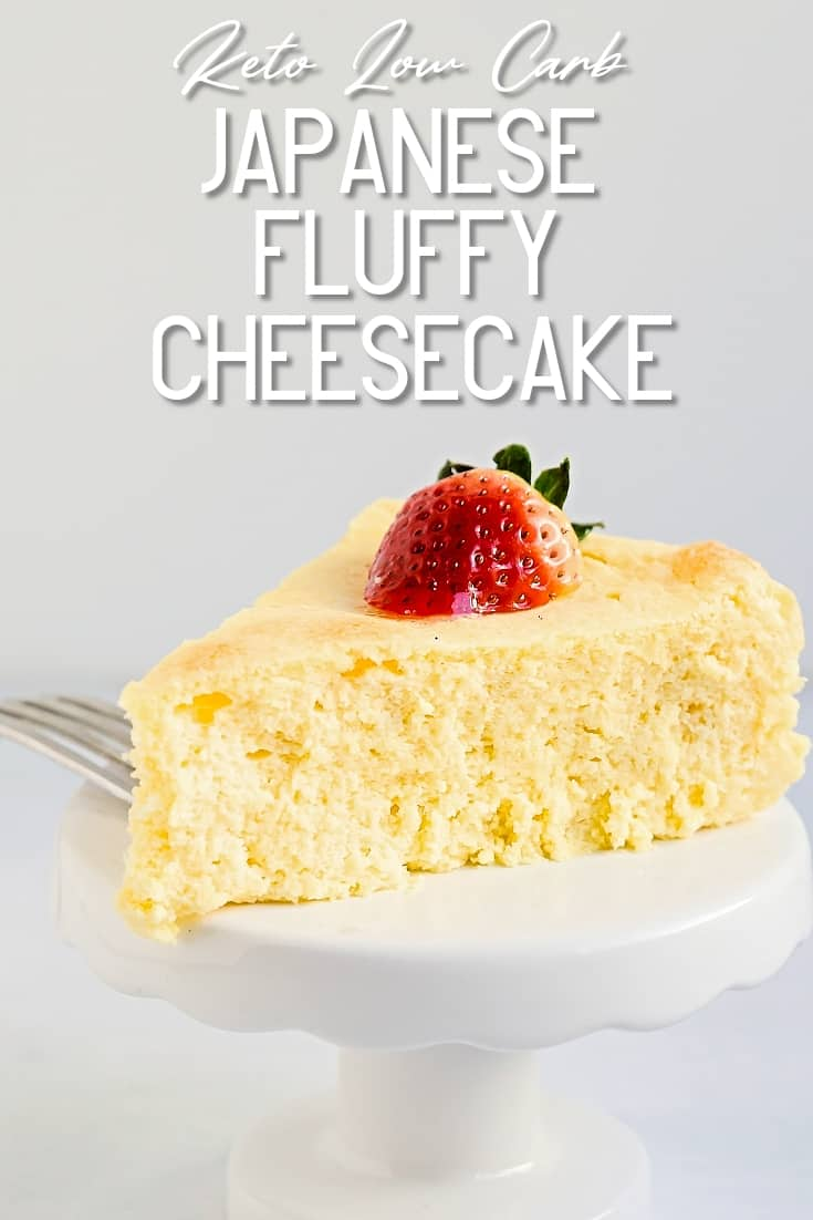 Japanese Fluffy Cheesecake LowCarbingAsian Pin 1