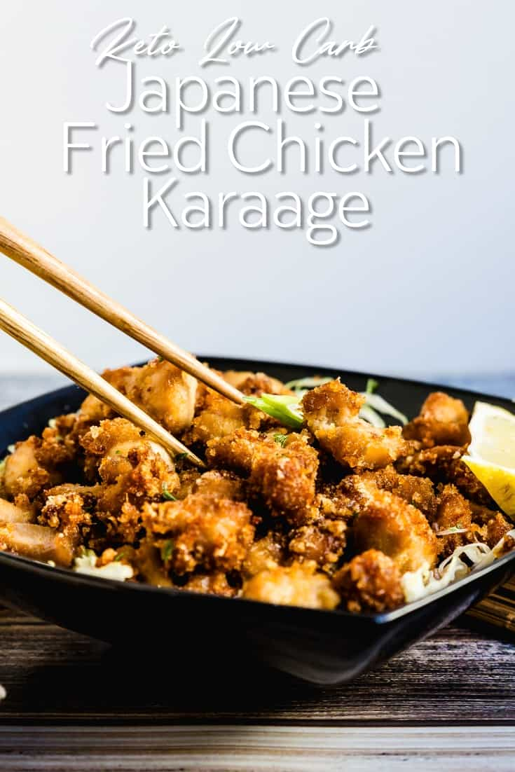 Keto Low Carb Japanese Fried Chicken Karaage