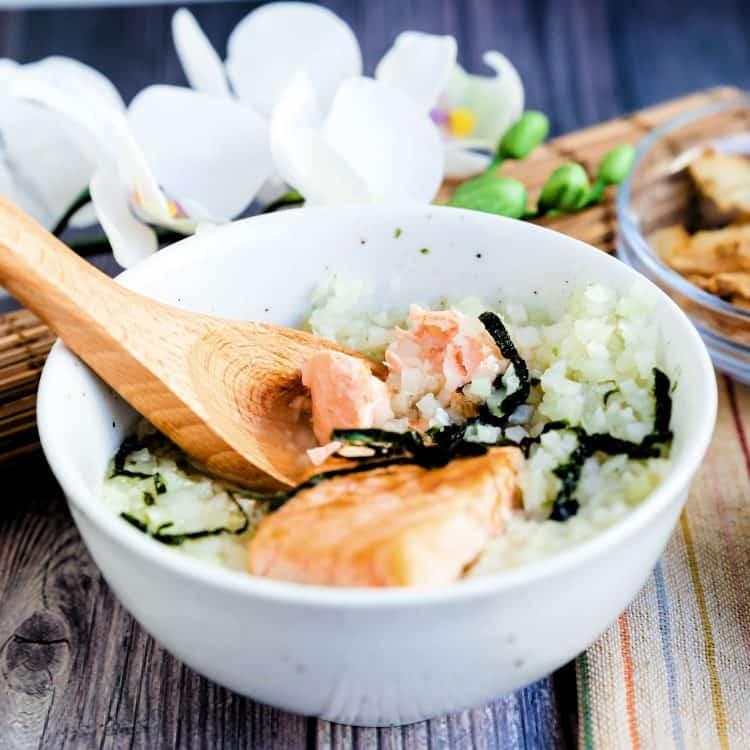 Keto Low Carb Japanese Salmon Breakfast Soup - Ochazuke LowCarbingAsian Cover 2
