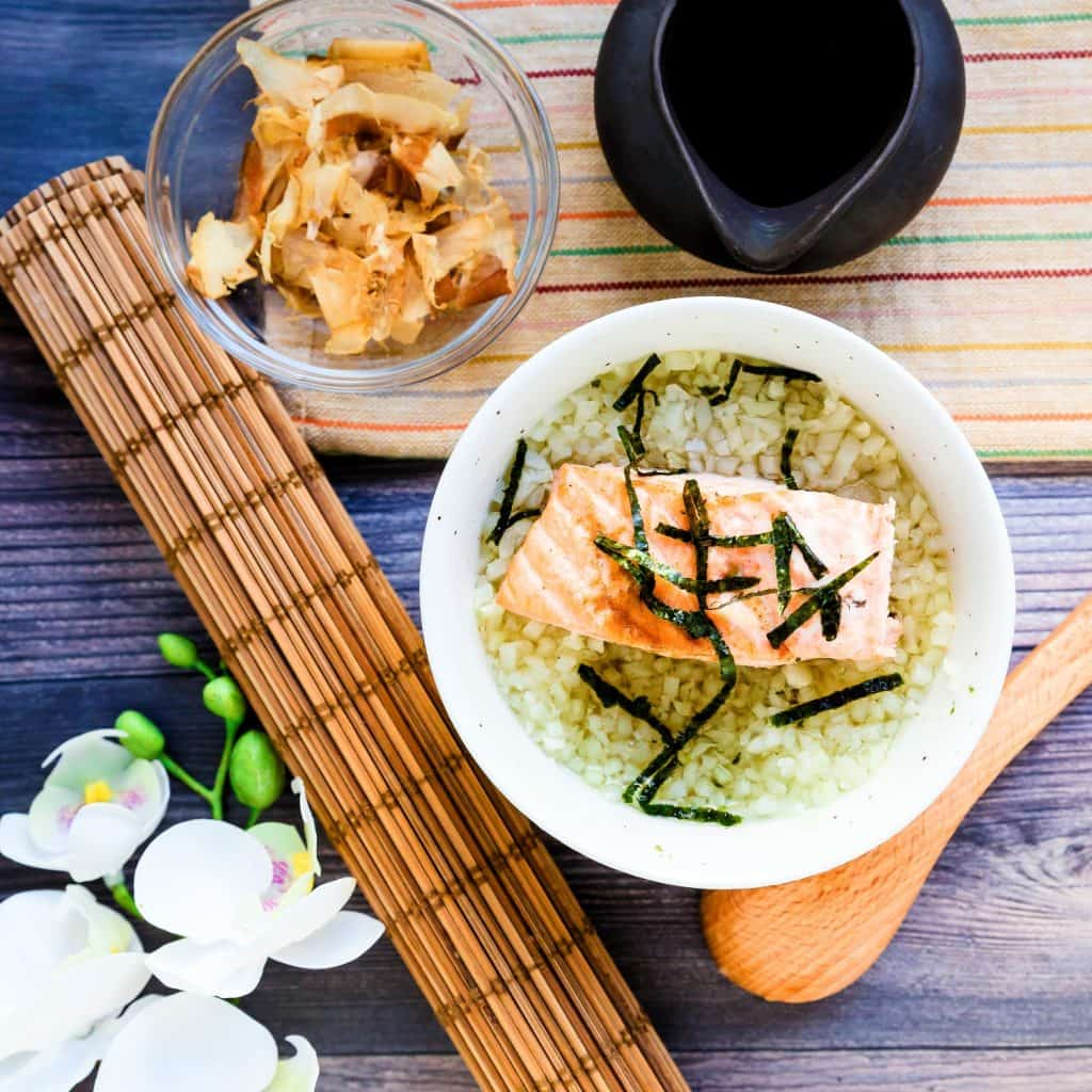 Japanese Salmon Breakfast Soup - Ochazuke