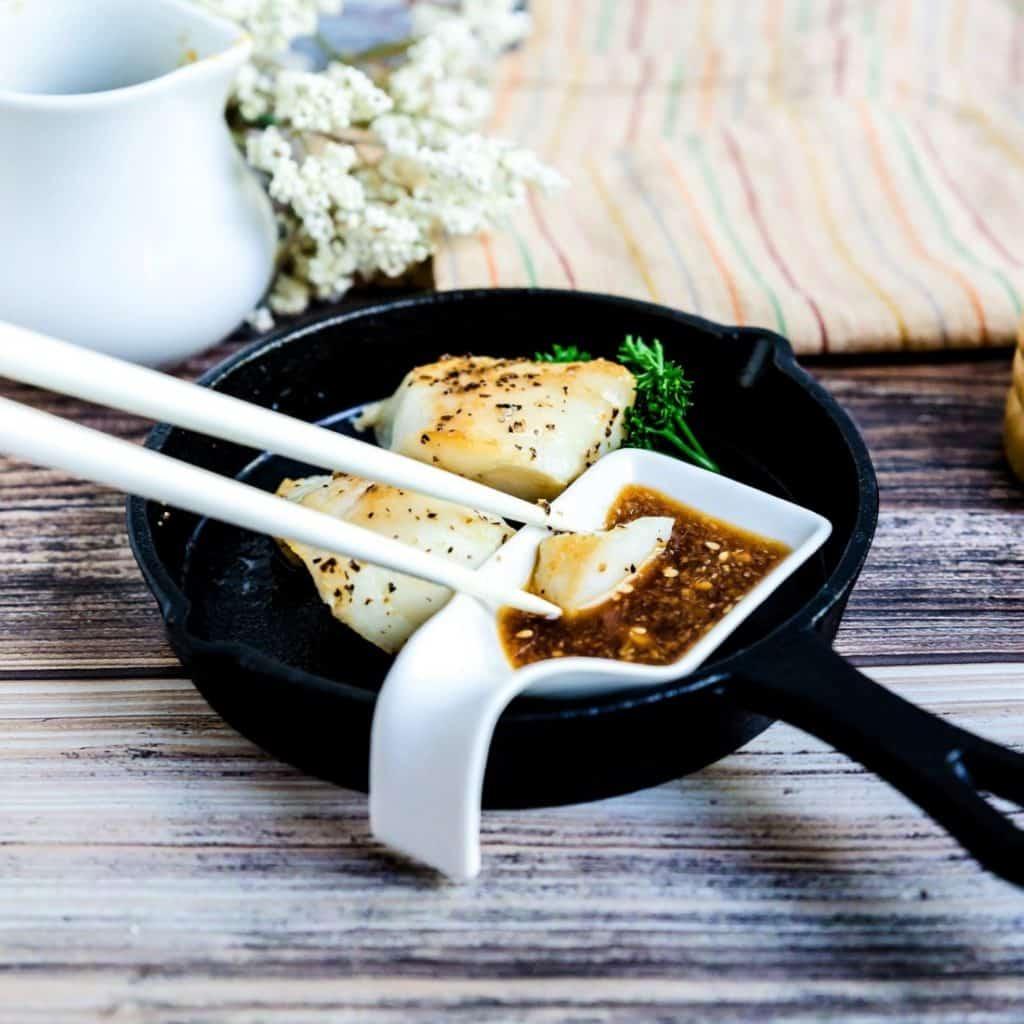 Seared Cod with Benihana Ginger Sauce LowCarbingAsian Pic 2