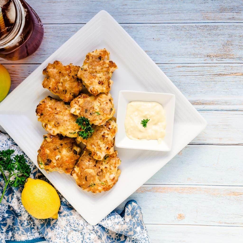 Shrimp Cakes with Garlic Aioli LowCarbingAsian Pic 2
