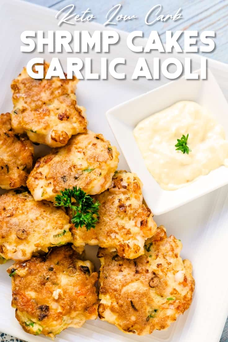 Shrimp Cakes with Garlic Aioli LowCarbingAsian Pin 1