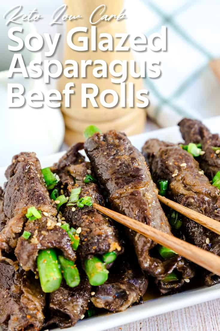 Soy Glazed Asparagus Beef Rolls LowCarbingAsian Pin 2