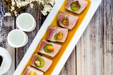 Yellowtail Carpaccio in Yuzu Sauce LowCarbingAsian Cover
