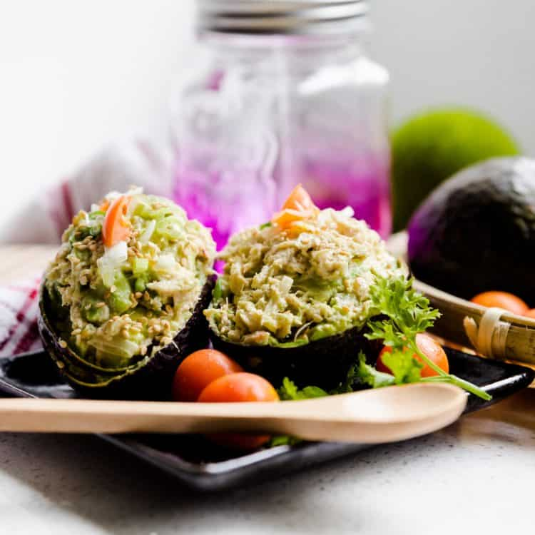 keto Asian Avocado Crab Bowl cover