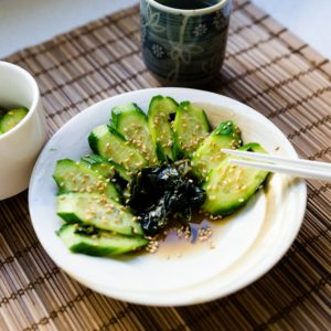 keto Japanese Cucumber Salad cover