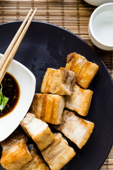 keto Taiwanese Crispy Pork Belly in Garlic Soy Sauce cover
