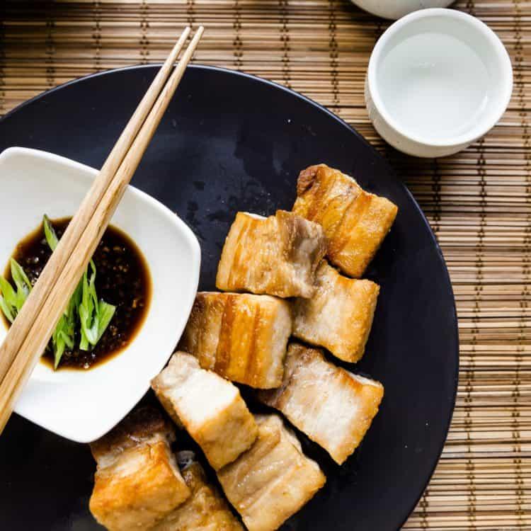 keto Taiwanese Crispy Pork Belly in Garlic Soy Sauce cover