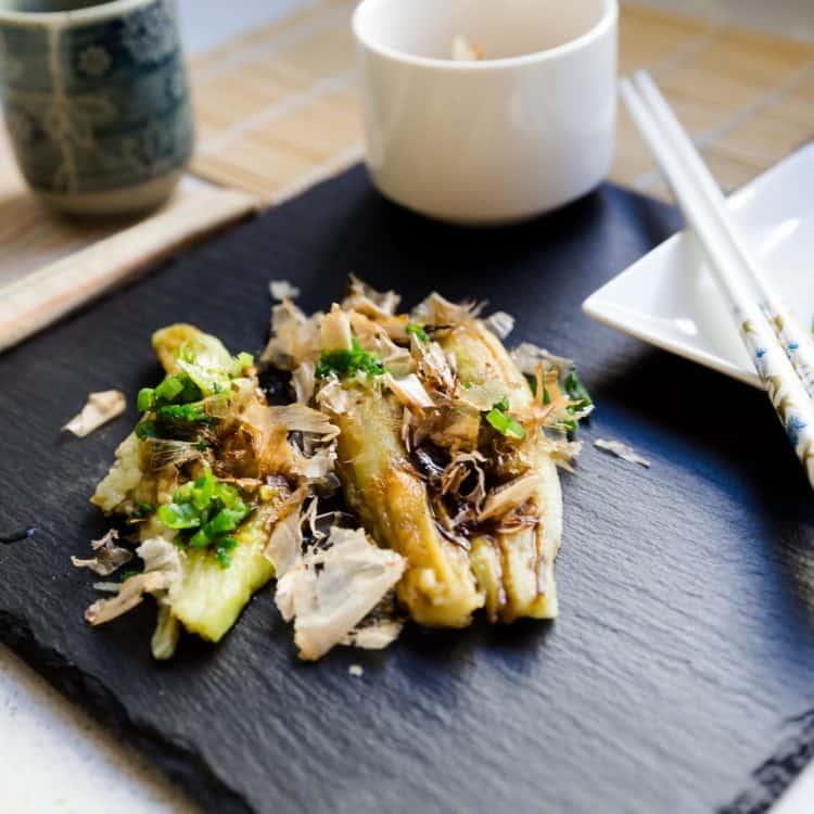 keto Japanese Roasted Eggplants with Umami Soy Glaze Yakinasu cover