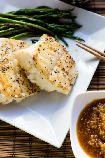 keto Seared Pacific Cod with Benihana Ginger Sauce cover