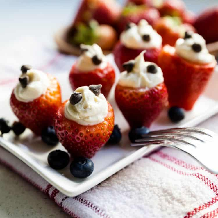 keto Cheesecake Stuffed Strawberry cover
