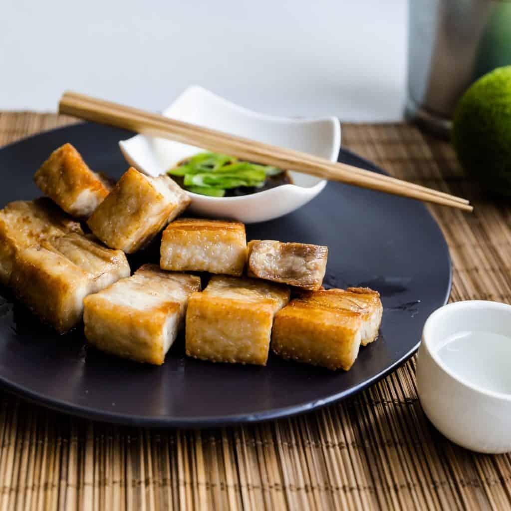 keto Taiwanese Crispy Pork Belly in Garlic Soy Sauce pic